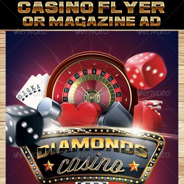 Casino Magazine Ad or Flyer Template 7
