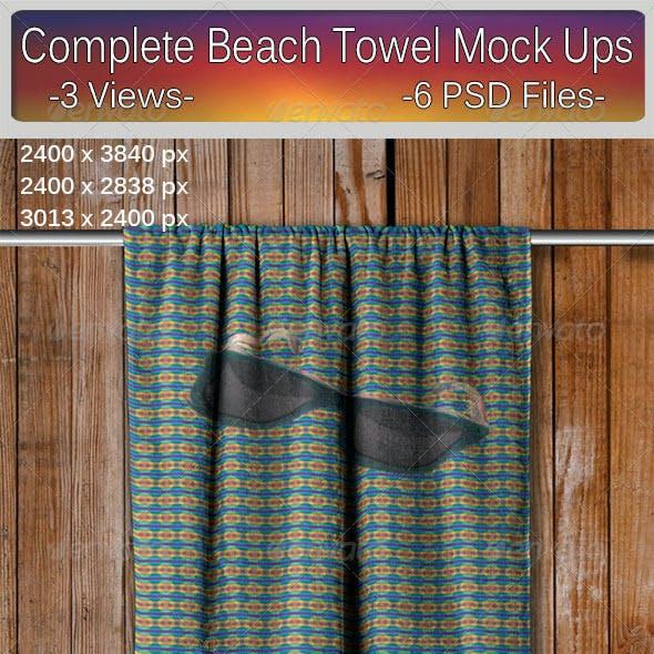 Complete Beach Towel Mock Ups