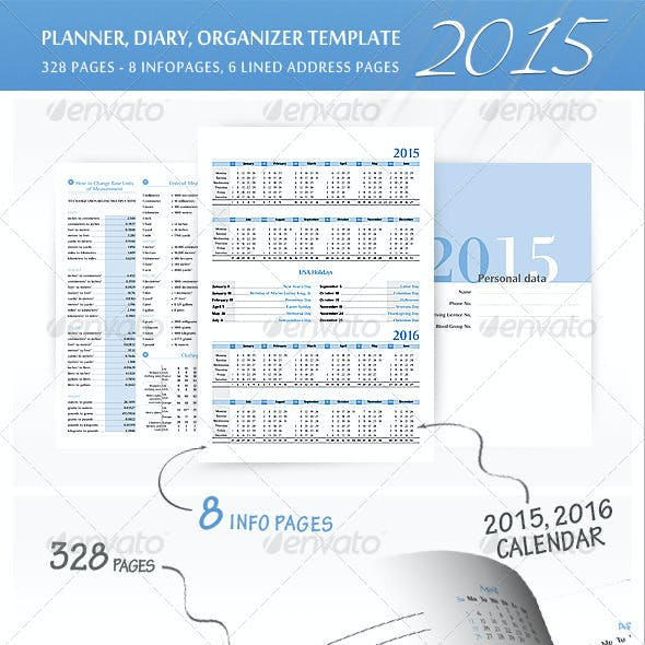 Planner-Diary-Organizer 2015