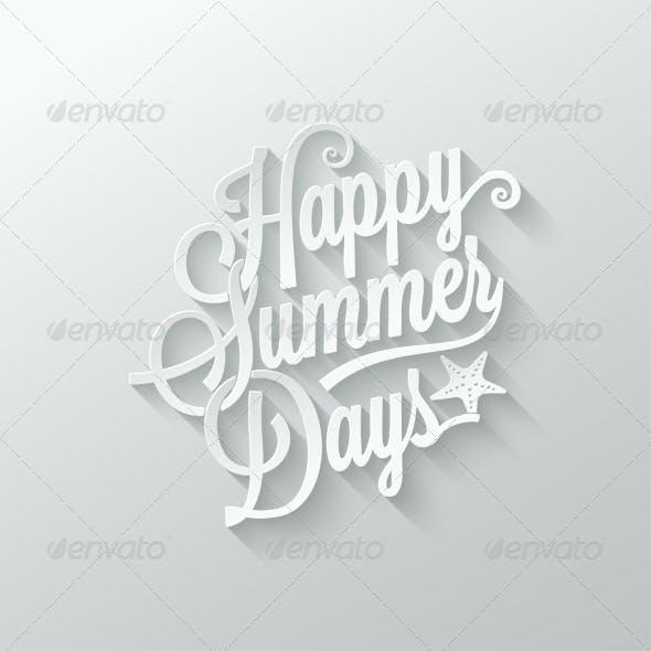 Summer Paper Cut Lettering Background