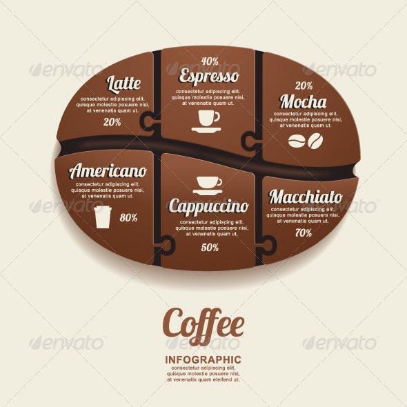 Infographic Template Coffee Bean Jigsaw banner