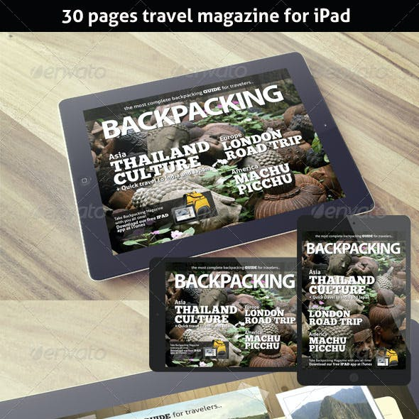 BackPacking Magazine Template for iPad