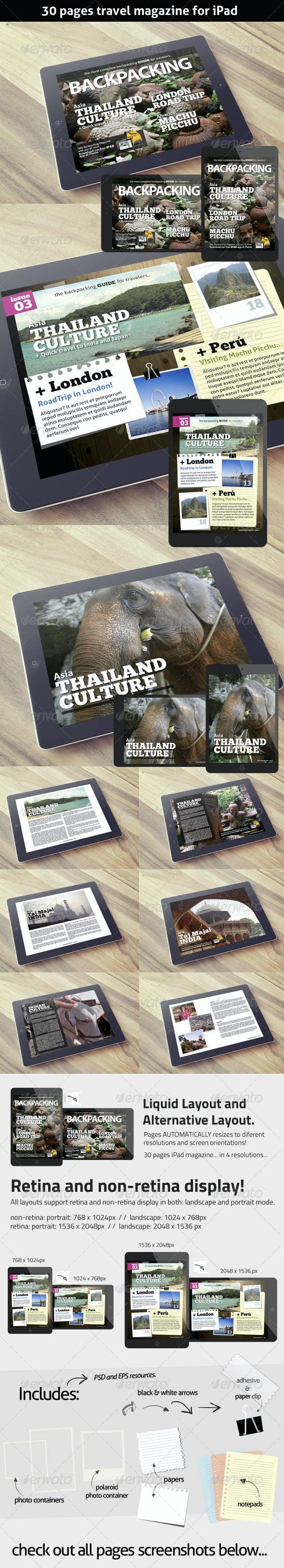 BackPacking Magazine Template for iPad - Digital Magazines ePublishing