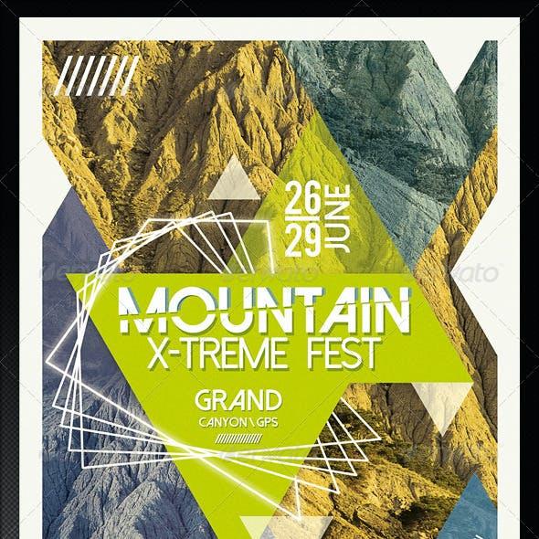 Mountain X-treme Flyer Template