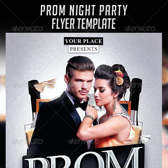 Prom Night Party Flyer Template