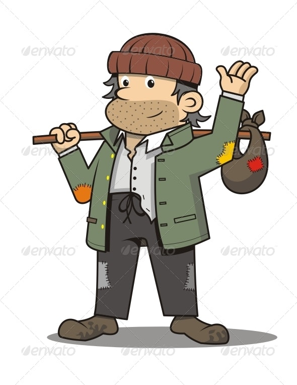 Newbie Homeless - People Characters