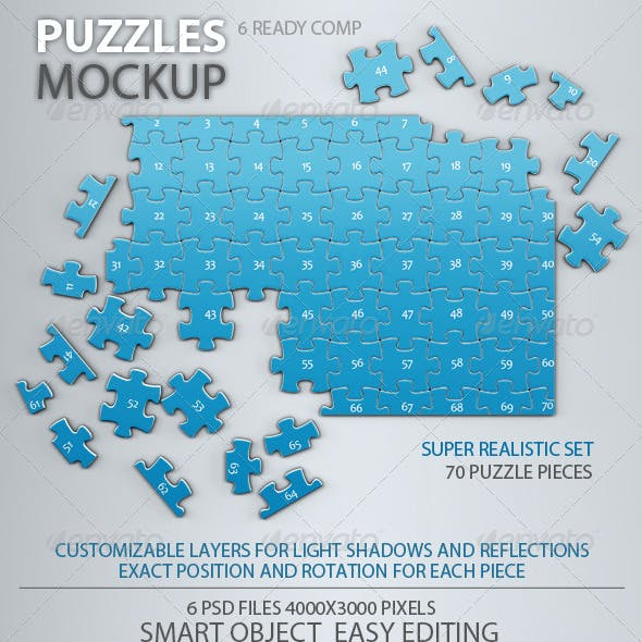 Puzzles 70 Pieces Mock-up