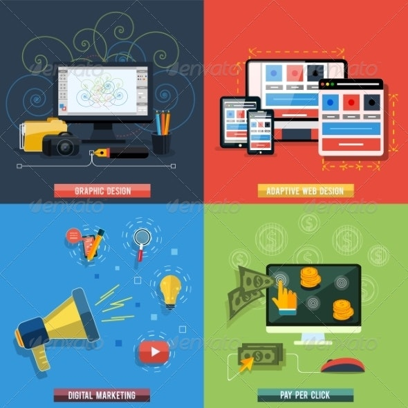 Web Design Seo Social Media And Pay Per Click By Robuart Graphicriver