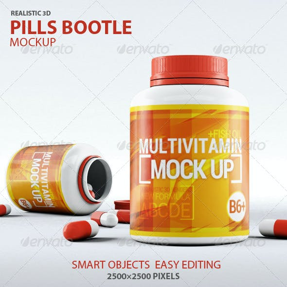 Pills Bootle Mock-up