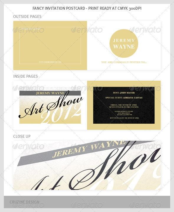 Fancy Invitation Postcard - Invitations Cards & Invites