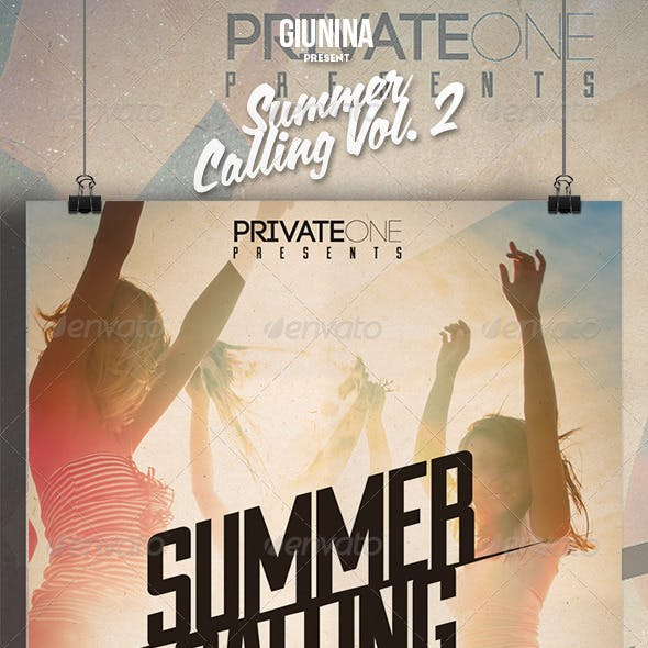 Summer Calling Vol. 2 Flyer/Poster