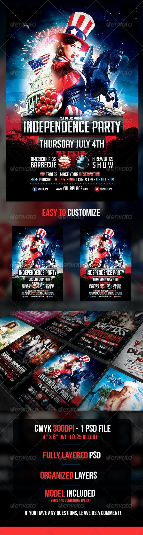 Independence Day Flyer Template - Holidays Events