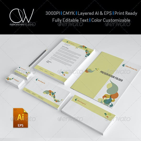 Corporate Stationery Pack Design Template Vol.9