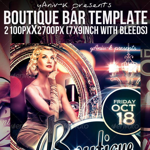 Boutique Bar Flyer Template