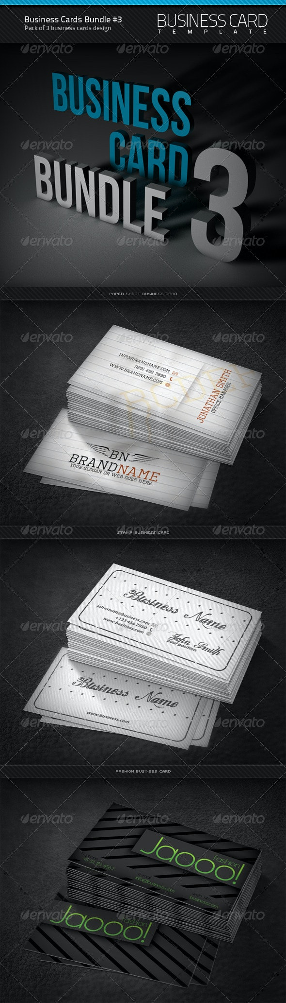 Business Cards Bundle #3 - Corporate Business Cards