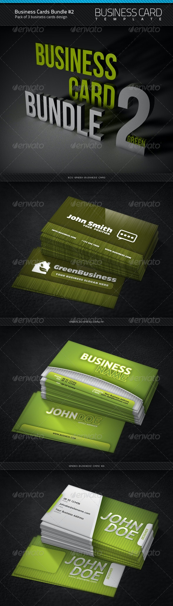 Business Cards Bundle #2 - Corporate Business Cards