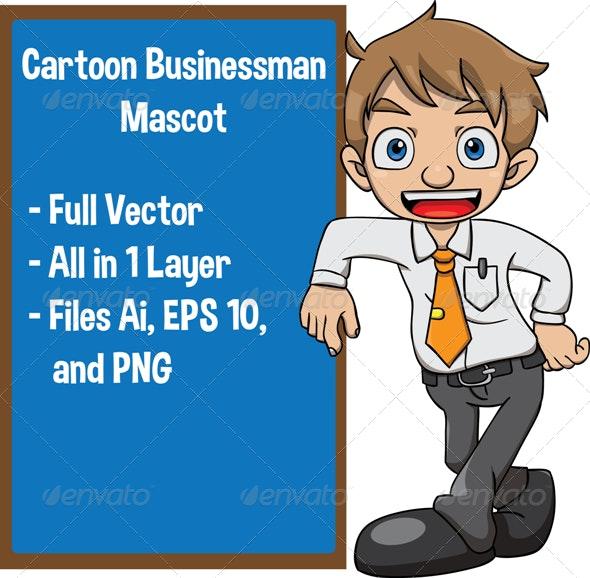 Cartoon Businessman - Characters Vectors
