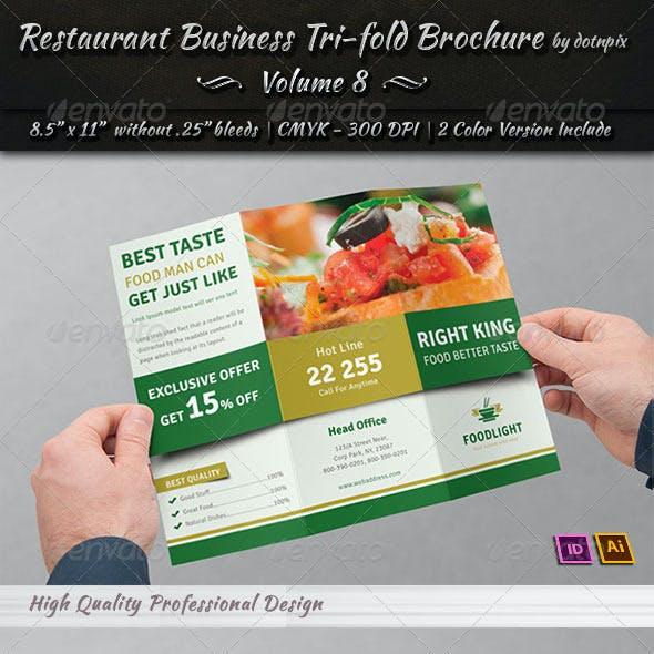Restaurant Business Tri-Fold Brochure | Volume 8