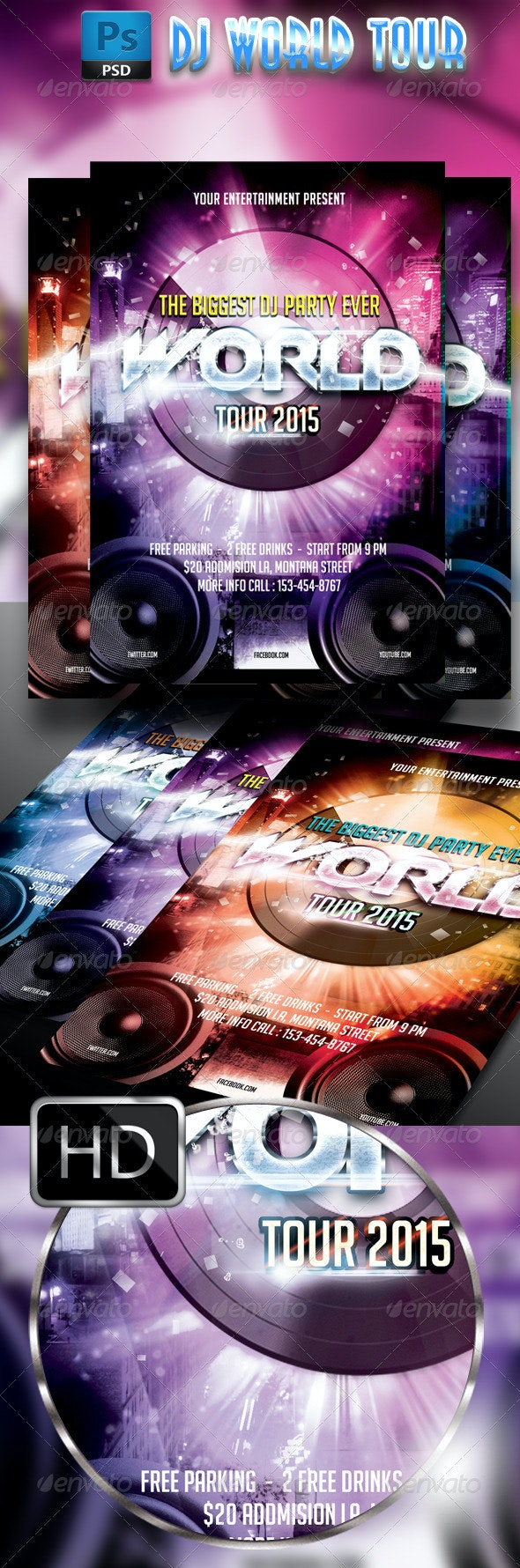 DJ World Tour - Clubs & Parties Events