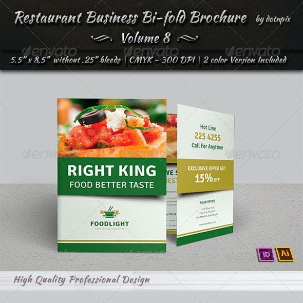 Restaurant Business Bi-Fold Brochure | Volume 8