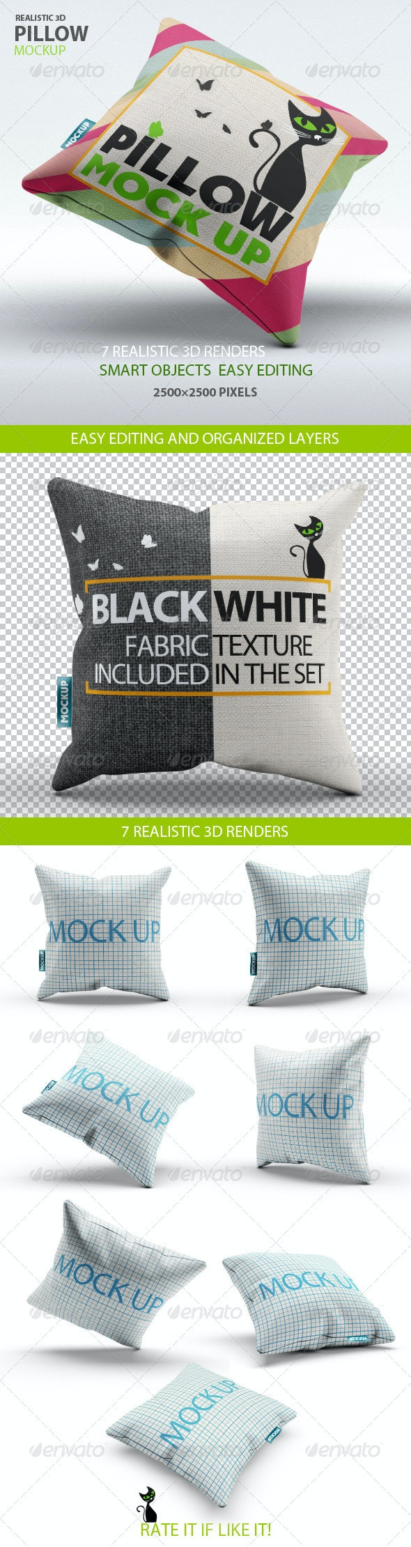 Pillow Mock-Up - Miscellaneous Product Mock-Ups