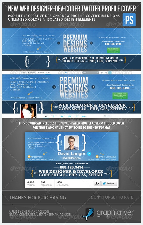 Web Designer Developer Coder Twitter Header Photo - Twitter Social Media