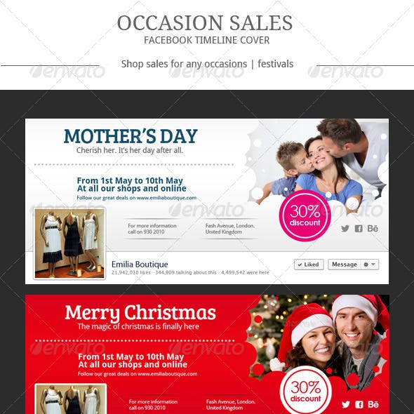 Occasion Sales Facebook Cover