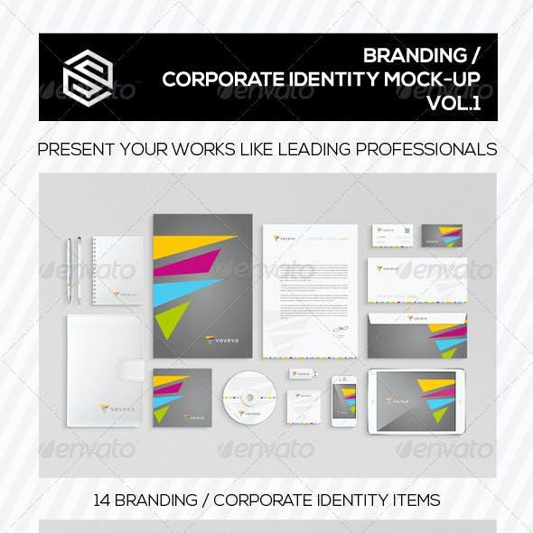 Branding / Corporate Identity Mock-Up Vol.I