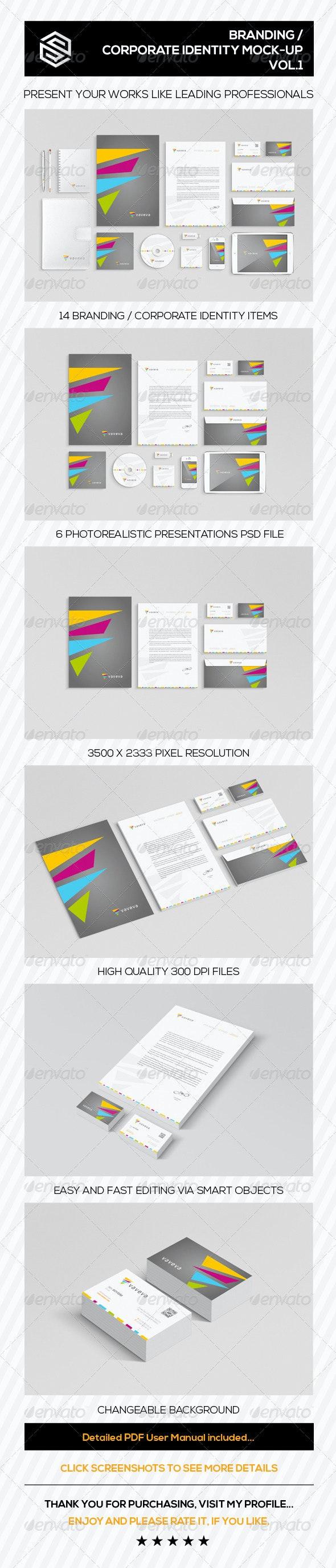 Branding / Corporate Identity Mock-Up Vol.I - Product Mock-Ups Graphics