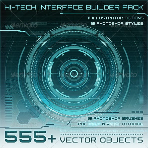 Hi-Tech Interface Builder Pack