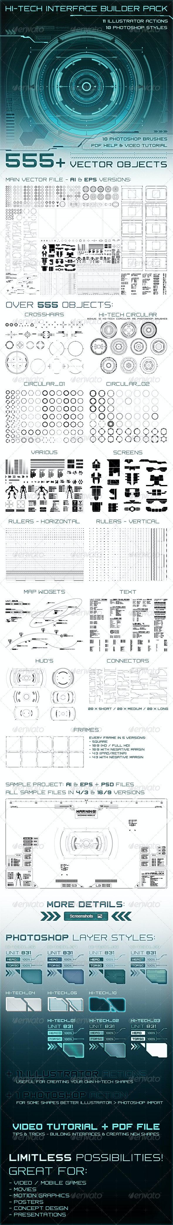 Hi-Tech Interface Builder Pack
