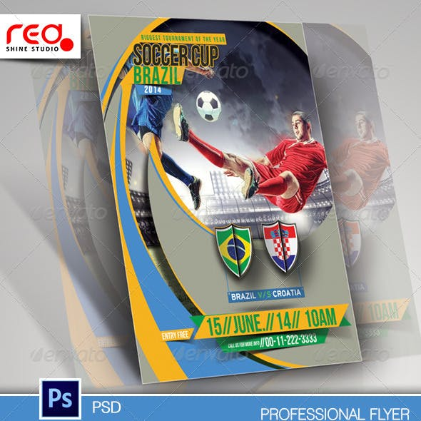 Football Cup Flyer Poster Magazine Template