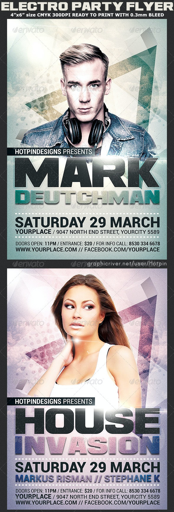 Guest Dj Event Party Flyer Template - Clubs & Parties Events