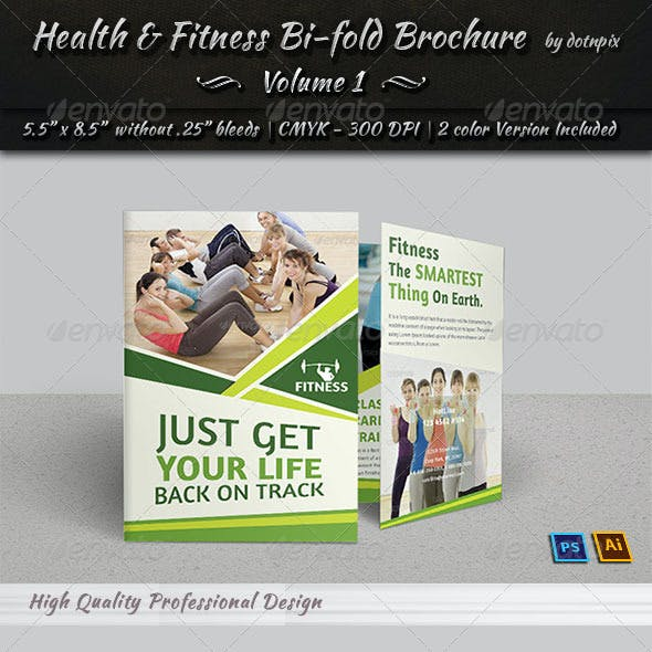 Health & Fitness Bi-Fold Brochure   Volume 1