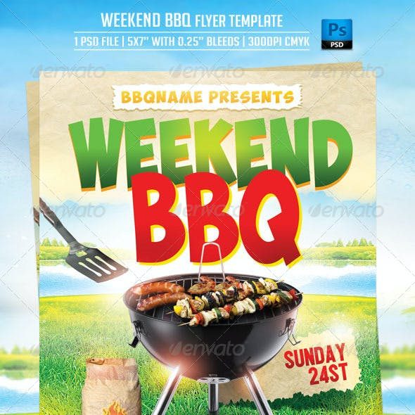 Weekend BBQ Flyer Template