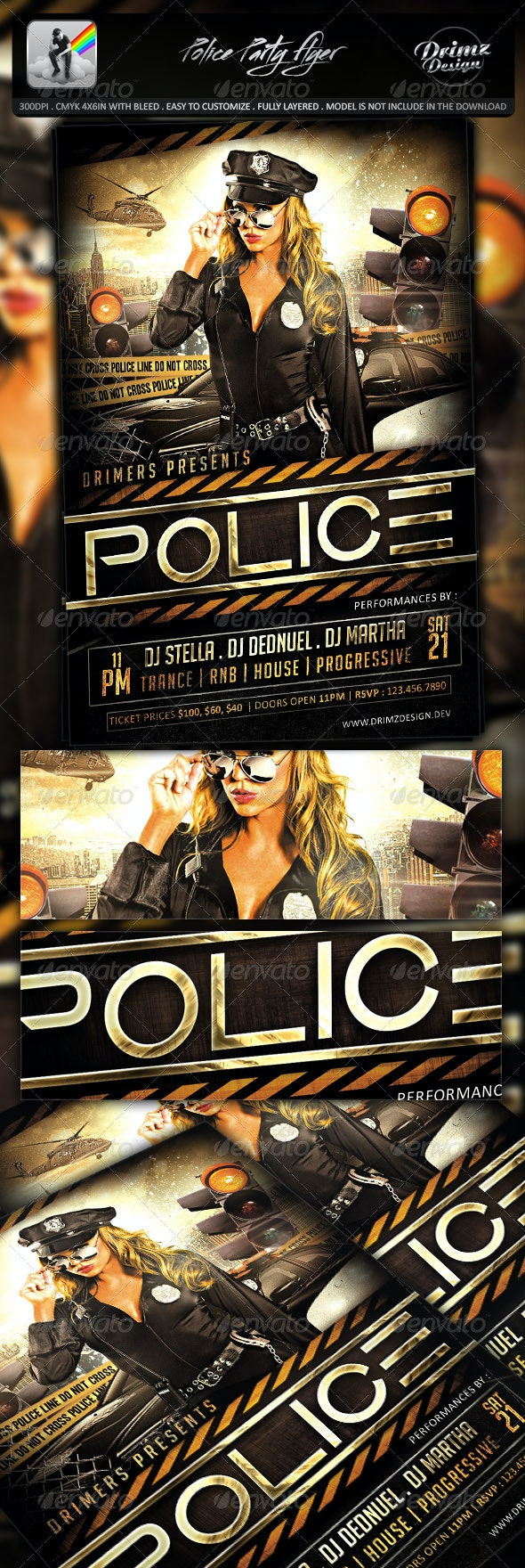 Police Party Flyer - Events Flyers