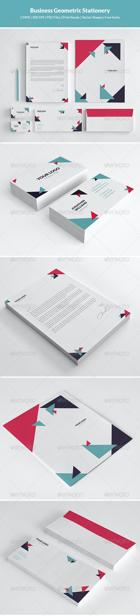 Business Geometric Stationery - Stationery Print Templates