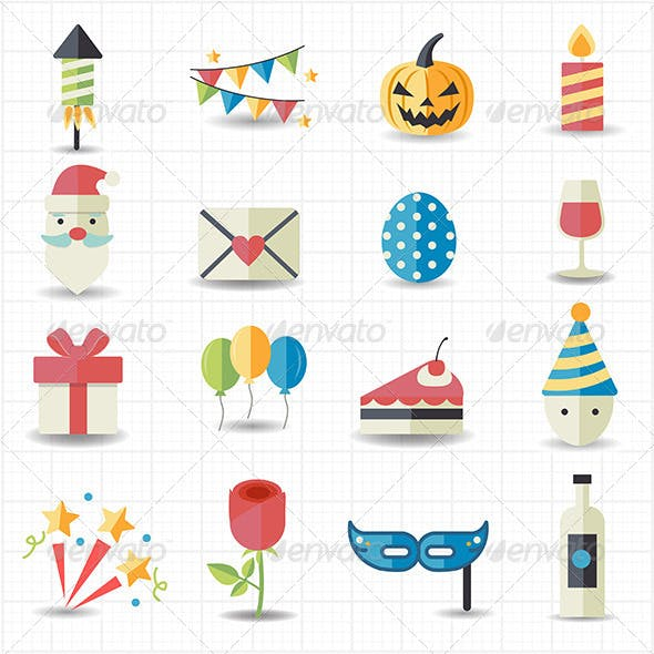 Celebration and Party Icons