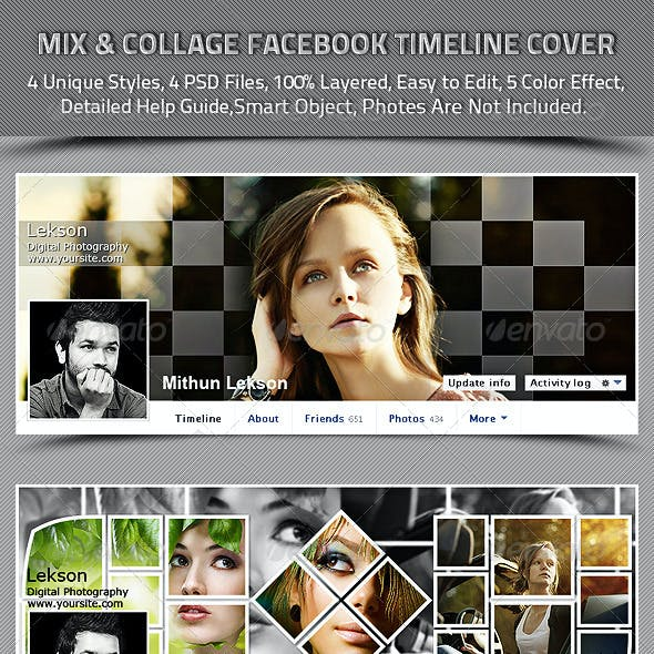 Mix And Collage Facebook Timeline Cover