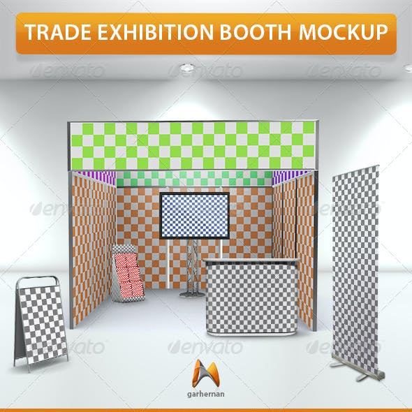 Trade Exhibition Booth Mockup