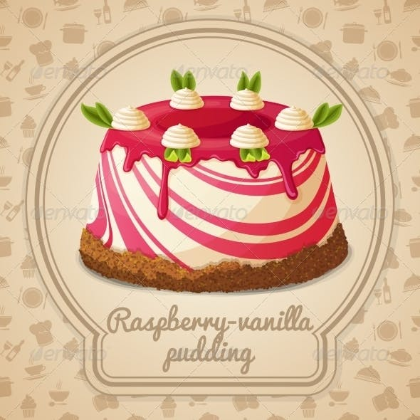 Raspberry Vanilla Pudding Label