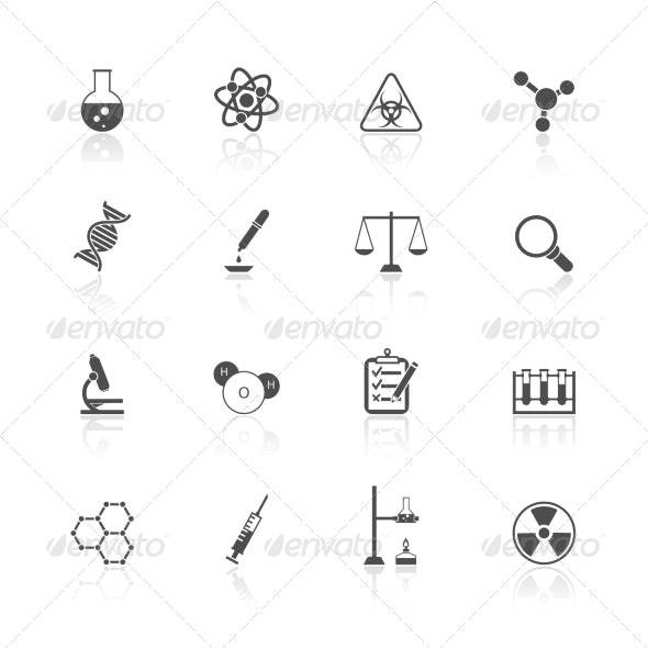 Chemistry Icons Set - Technology Icons