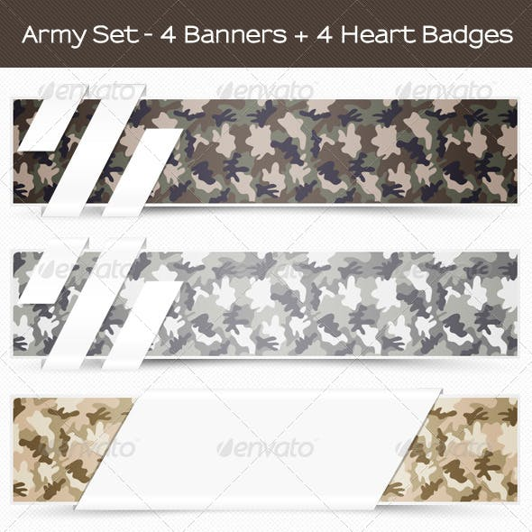 Camouflage Military Banners