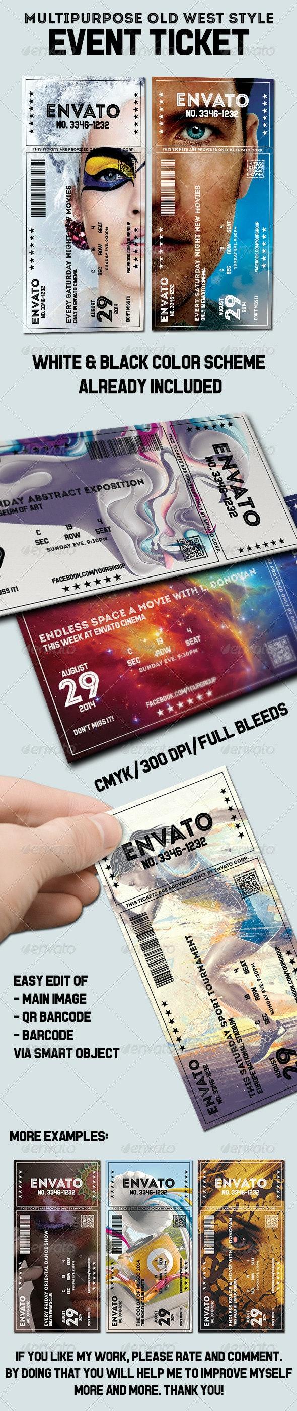 Elegant multipurpose event ticket - Cards & Invites Print Templates