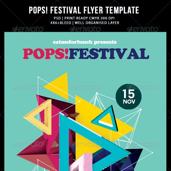 Abstract Pop Music/Festival Flyer Templates
