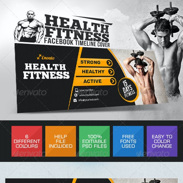 Health & Fitness Facebook Cover Pages