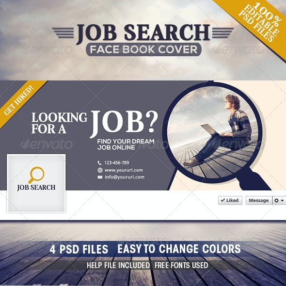Job Search Facebook Covers