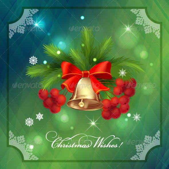 Christmas Holidays Frame Card