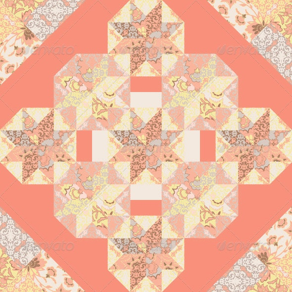 Quilt Abstract Seamless Pattern - Abstract Conceptual