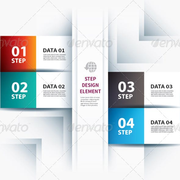 Business Step Paper Lines and Numbers Design Templ